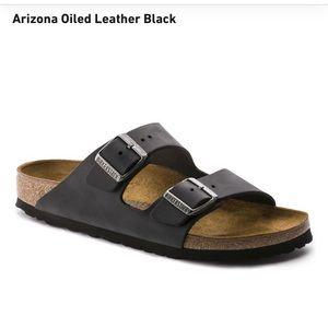 Birkenstock Arizona Black Leather 37 Narrow
